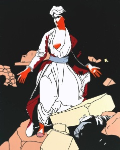 Greece Expiring on the Ruins of Missolonghi (after Delacroix) 1963 by Patrick Caulfield 1936-2005
