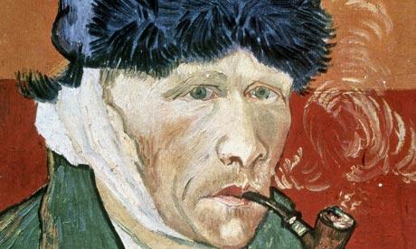 Αυτοπροσωπογραφία του Βίνσεντ Βαν Γκογκ, αφού είχε κόψει το αυτί του.