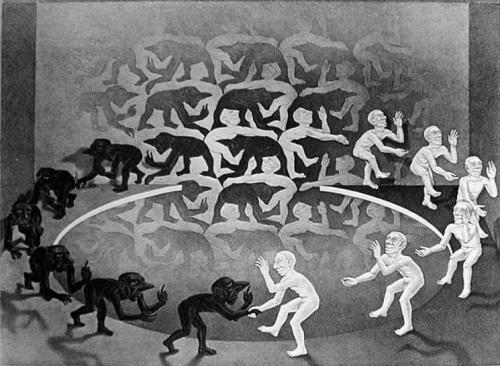"""""""Συνάντηση"""", χαρακτικό του Μ.Κ. Έσερ"""