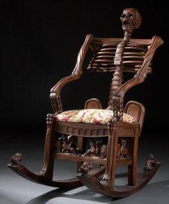 κουνιστή πολυθρόνα - σκελετός