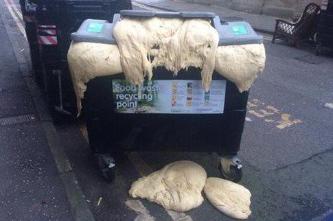 Εικόνα Ζύμη φουσκώνει στα σκουπίδια