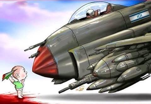 Σκίτσο Βομβαρδισμός Γάζα